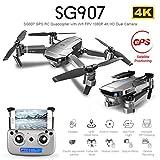 Drone avec caméra pour Adultes - Drone WiFi FPV Pliable SG907 / Caméra 4K HD/Vol de trajectoire/Maintien d'altitude/Capteur G/Flips 3D / Mode sans tête/Retour d'une clé