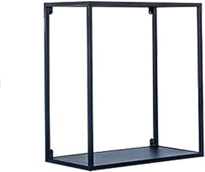SjYsXm-Floating shelf Estante Estante Flotante Estante de Pared Metal Almacenamiento Organizador de Rack Estante para Libros Contenedor de Flores (Color : Negro, Tamaño : 45 * 25 * 50cm): Amazon.es: Hogar