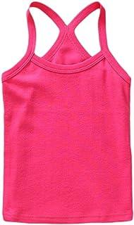 YiyiLai Unisex Children Solid Summer Scoop Neck Strap Tank Top Shirt