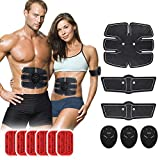 TP TOP BEAUTY Muscle Toner Abdominal Toning Belt Abs Trainer Body Muscle Trainer Portable Unisex Fitness Training Gear for Abdomen/Arm/Leg/Waist Workout Equipment with 6 Modes 10 Levels
