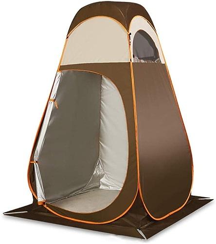 YLFC Tente Douche Camping, Pop UpTente de Douche Pop Up Toilette Cabinet de Changement Camping Abri de Plein Air Vestiaire Extérieure Intérieure Portable(120  120  210CM)