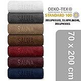 XXL Sauna Handtuch 70 x 200 cm - Saunatuch Badetuch Strandtuch aus 100% Baumwolle - Qualität 500 g/m² - anthrazit