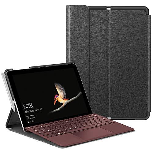 Fintie Schutzhülle für Surface Go 2 2020/ Surface Go 2018 10 Zoll Tablet - Business Hülle mit Harter Schale, anpassbarer Betrachtungswinkel, kompatibel mit der Type Cover Tastatur, Schwarz
