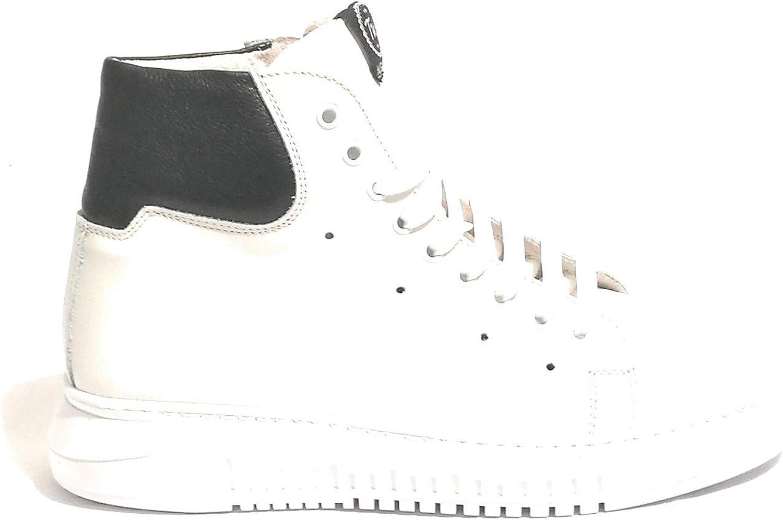 TONY WILD , Chaussures de Ville à Lacets pour Homme Bianco noir