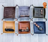 Personalized Leather Valet Tray, Personalized Leather catchall, personalized anniversary gift, Customized mens gift, Customized leather gift