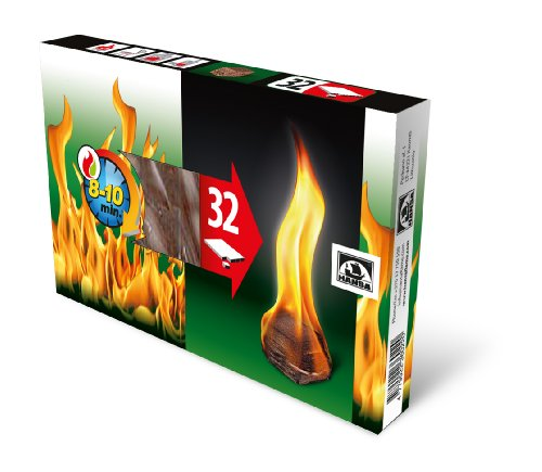 32 Stück natürliche Feueranzünder für Kamin, Öfen, Lagerfeuer, Grill, Ecosafe