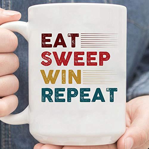 Sweepstakes Eat Sweep Win Repeat Mug