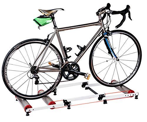LYzpf Indoor Rodillo Entrenamiento Bicicleta Accesorios De Carretera Montaña Estacionario Plegables Soporte...