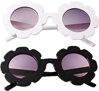 #N/A - #N/a 2pcs Gafas de Sol de Flores de Moda Niños Niñas Niño Bebé Nuevas Gafas con Estilo