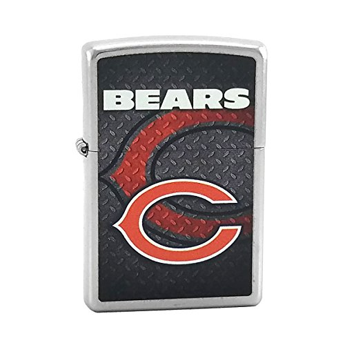 Custom Style Personalized Zippo Lighter NFL - Free Laser Engraving (Chicago Bears)