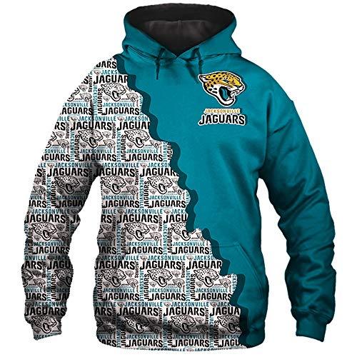 WisdomTooth Manner 3D Hoodies Gedenkausgabe Jacksonville Jaguars Fubballmannschaft Logo Muster Druck Kapuzenpullis Liebhaber Kapuzenpullis Jacke