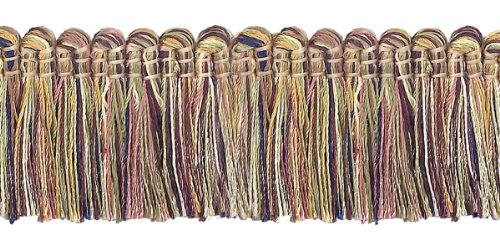 Dusty Rose,Olive Green, Eggplant 38mm Imperial IIBrush Fringe Style# 0150IB Color: OLIVE ROSE - 1010 (Sold by the Yard - 91cm / 3 Ft / 36\