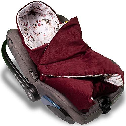 Jukki® VELVET Einschlagdecke mit Kapuze Babyschale für Kindersitz im Auto oder Kinderwagen, Baby Decke Kuscheldecke, Babydecke ideal für Reisen    90cm x 90cm