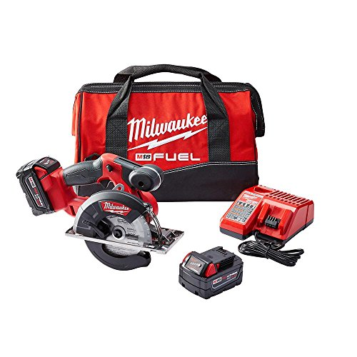 Milwaukee M18 Fuel 2782-22 Cordless Circular Saw Kit, 5-3/8 to 5-7/8 in Blade, 20 mm Arbor/Shank, 18 VDC, M18 Lithium-Ion Battery, Right Blade Side