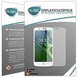 Slabo 2 x Bildschirmfolie für Acer Liquid Zest Plus Bildschirmschutzfolie Zubehör No Reflexion MATT