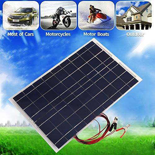 30 W Solar System Kit 12 V Solarpanel mit Controller 12 V 24 V Inverter Semi Flexible Solarbatterie für Auto Boot Notlicht