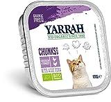 Yarrah Bio Bio - Pavo y pollo para gatos con aloe vera (6 x 100 g)