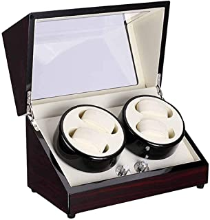 Remontoir de montre automatique Boîte de montre automatique à remontage automatique en cuir 4 modes de rotation Boîte de r...
