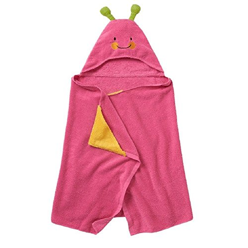 Jumping Beans Butterfly Hooded Bath Towel, in Pink