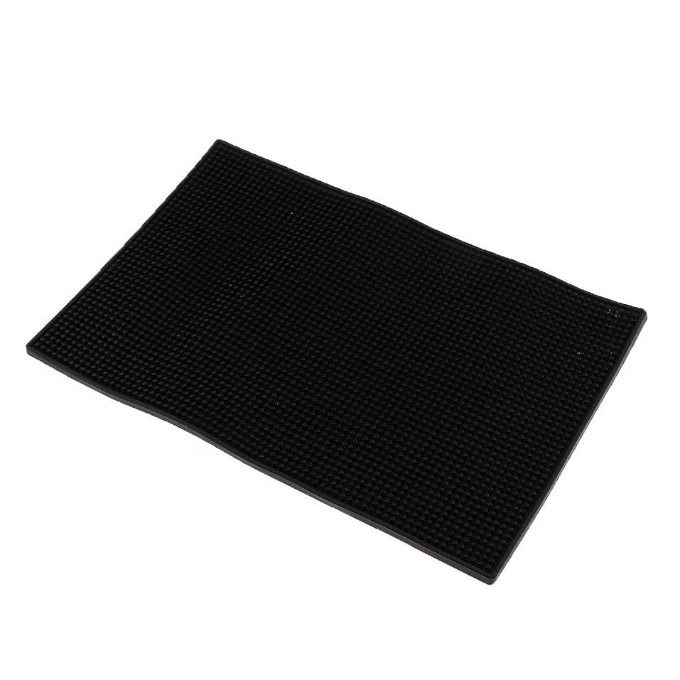 関数合理的ロゴF Fityle ネイルアートクッション ピロー シリコンマット マニキュアツール 全3色 - 黒