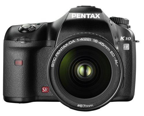 Pentax K10D SLR-Digitalkamera (10 Megapixel, 3D-Bildstabilisator) Gehäuse schwarz