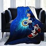ZS-CX Manta Sonic, manta cálida y mullida, cómoda manta para...