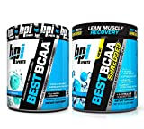 BPI Sports Muscle Recovery & Weight Loss Branched Chain Amino Acid Stack - Best BCAA (30 Servings) and Best BCAA Shredded (25 Servings) (Blue Raspberry)