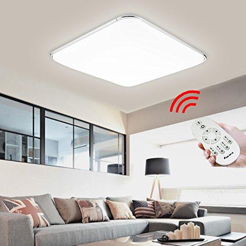 24W LED Deckenleuchte Dimmbar 2700-6500K Fernbedienung Lichtfarbe und Helligkeit einstellbar Esszimmer Deckenbeleuchtung Badezimmer geeignet Moderne