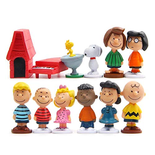 Peanuts Movie cake topper cake toppers figures Characters set of 12 Action Figure Toys Premium Snoopy Cake Toppers Peanuts Movie cake decorations