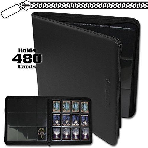BCW Z-Folio LX Zipper Portfolio 12 Pocket Playset Album, Black