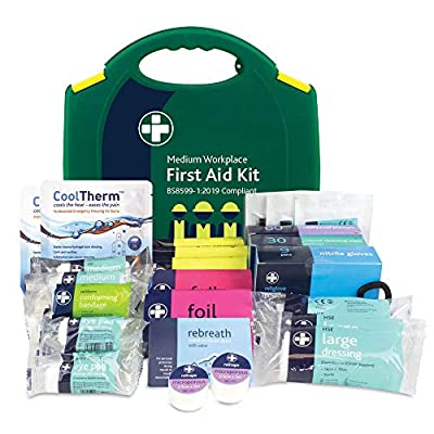 Reliance Medical BS8599-1 Medium Workplace First Aid Kit for Ref 343, 77319RM from Reliance Medical
