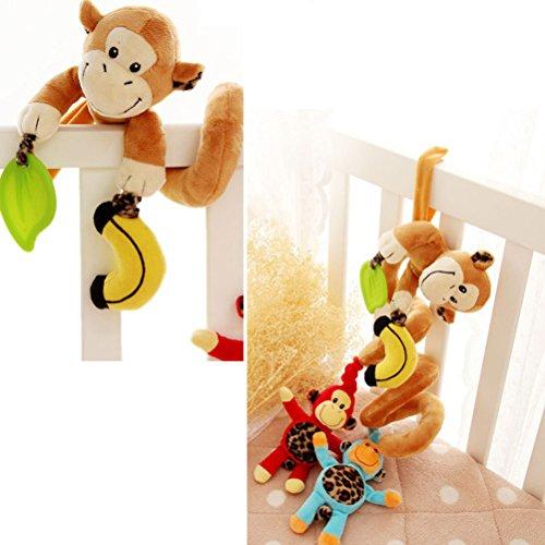 TOYMYTOY Il giocattolo del giocattolo del passeggiatore del letto a spirale del bambino gioca i giocattoli musicali della cremagliera di Bell
