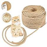 Cuerda de Sisal Natural, Cuerda Natural, para Gatos, Cuerda para Rascadores, Decoración Artesanías Bricolaje para Jardín Doméstico(6mm,30m)