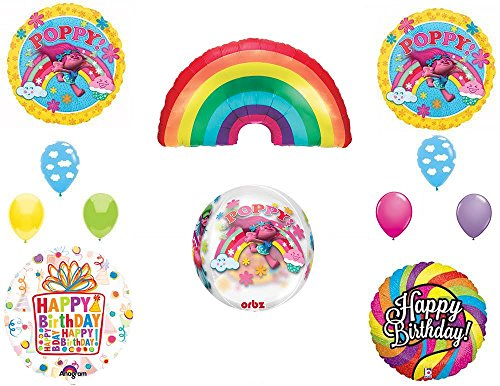 TROLLS Movie ORBZ / Rainbow Party Balloons Decoración Suministros Poppy Kit