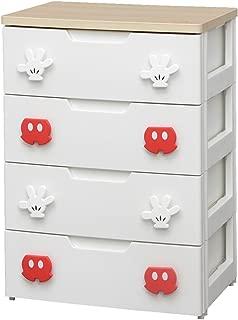 アイリスオーヤマ ディズニー チェスト 収納ボックス 棚 子ども用チェスト ミッキー 4段 幅56cm MHG2-554