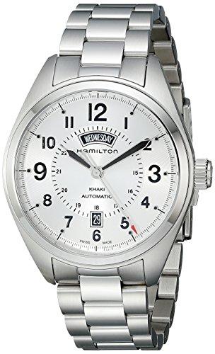 Hamilton Herren Analog Automatik Uhr mit Edelstahl Armband H70505153