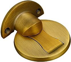 Hidden Doorstop, Magnetic Invisible Door Holder Stopper Doorstop Wall Mounted Door Safety Catcher, Zinc Alloy Suction Door Stops Invisible Anti-Collision Punch (D)