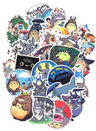 Top Aufkleber! Set von 50 Mein Nachbar Totoro Aufkleber Premium Qualität - Vinyls Stickers Nicht Vulgär – My Neighbour Totoro - Anpassung Laptop, Gepäck, Motorrad, Fahrrad, Skateboard