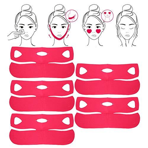 Mascarilla facial 5Pcs V Lifting Reafirmante Mascarilla adelgazante para cara