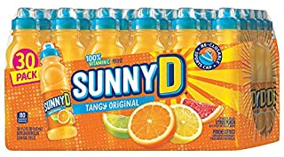 SunnyD Tangy Original Orange Flavored Citrus Punch 100% Vitamin C Fortified Drink in Sport Cap Bottle - 30 Pack (11.3 oz)