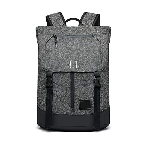 Canvas Backpack Business Backpack Casual Fashion Backpack Canvas Bag Wear-Resistant,Delicate Lining Breathable (Color : Black)