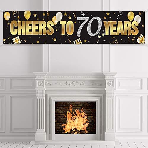 Banner de Cumpleaños de 70 Años, Signo de Cumpleaños Chee