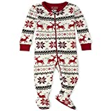 The Children's Place Baby Christmas Stretchie, Snow, 4T