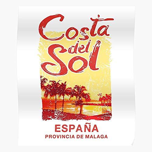 Provincia Retro Sol Spanish De Del Spain Travel Costa Espana Malaga El mejor y más nuevo póster para la sala de decoración del hogar de arte de pared