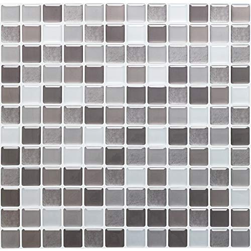 Yoillione Peel and Stick tiles Kitchen Tile Wallpaper Bathroom Tile Transfers Waterproof 3D Mosaic Tile Stickers for Kitchen,Tile Decal Stickers Self Adhesive Backsplash Tiles Wall Stickers