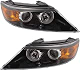 Headlight Set Compatible with 2011-2013 Kia Sorento Left Driver and Right Passenger Side Halogen With bulb(s)