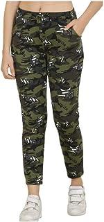 Bjird Women's Regular Fit Joggers(Dark Green)