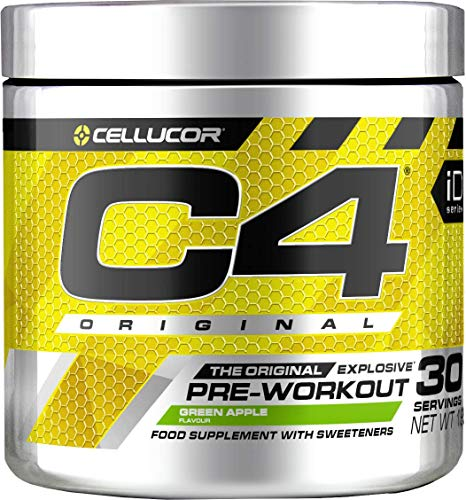 C4 Original Pre Workout Powder Green Apple | Preworkout Energy Drink Supplement | 150mg Caffeine + Beta Alanine + Creatine Monohydrate | 30 Servings