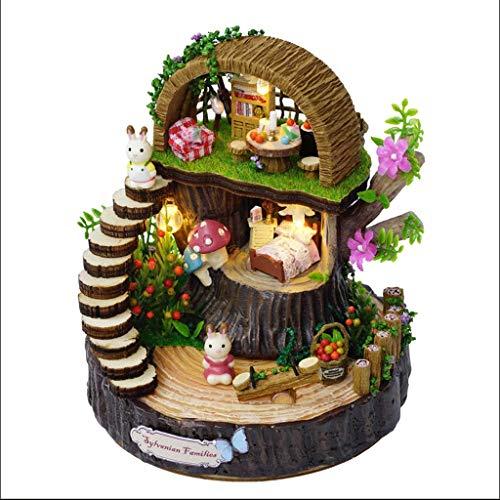 RWX Único Fantasía Caja de música Bosque Bricolaje Caja de música Creativa Hecha a Mano, Regalo de cumpleaños for el Novio Niña y el Novio Juguete (tamaño : Basic)