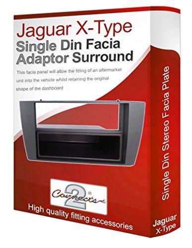 Connects2 Façade d'autoradio avec lecteur de CD, radio stéréo pour Jaguar X Type